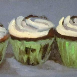 Art: Irish Cupcakes- SOLD by Artist Delilah Smith