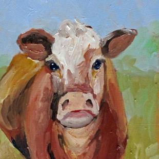 Art: Irish Cow by Artist Delilah Smith