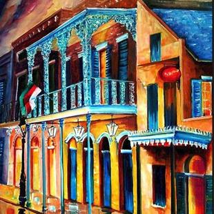Art: The French Quarter Glow - SOLD by Artist Diane Millsap