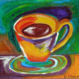 Art: Caffeine in Color by Artist Diane G. Casey