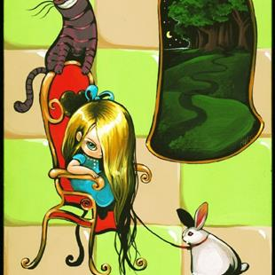 Art: Alice Rabbit and Cat by Artist Nico Niemi