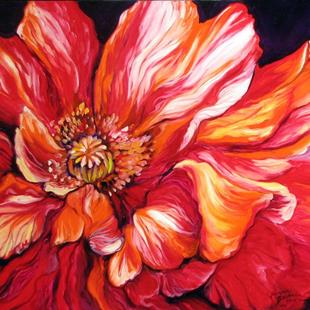 Art: RED POPPY SPLASH by Artist Marcia Baldwin
