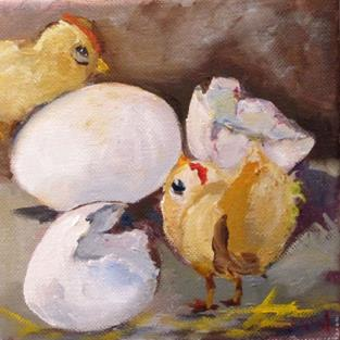 Art: Easter Chick by Artist Delilah Smith
