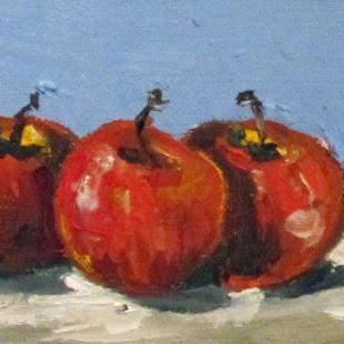 Art: Three Apples Aceo by Artist Delilah Smith