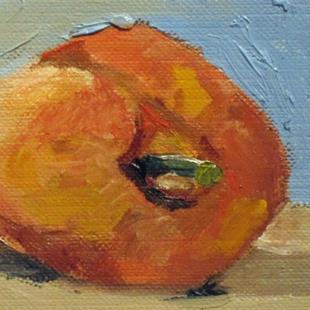 Art: Peach Aceo by Artist Delilah Smith