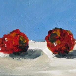 Art: Raspberries Aceo by Artist Delilah Smith