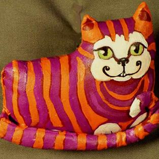 Art: The Cheshire Cat by Artist Catherine Darling Hostetter
