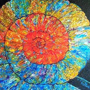 Art: ammonite by Artist Ulrike 'Ricky' Martin