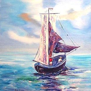 Art: Smooth Sailing - sold by Artist Ulrike 'Ricky' Martin