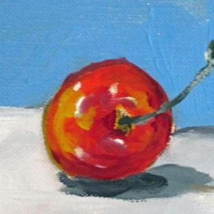 Art: Bing Cherry Aceo by Artist Delilah Smith
