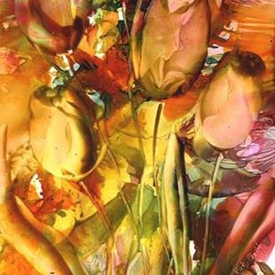 Art: Sun Kissed Tulips by Artist Ulrike 'Ricky' Martin