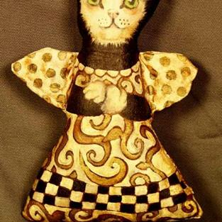 Art: Cat Angel by Artist Catherine Darling Hostetter