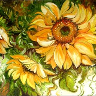 Art: SUNFLOWERS & VINES by Artist Marcia Baldwin