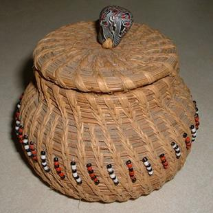 Art: Pine Needle Basket by Artist Lindi Levison