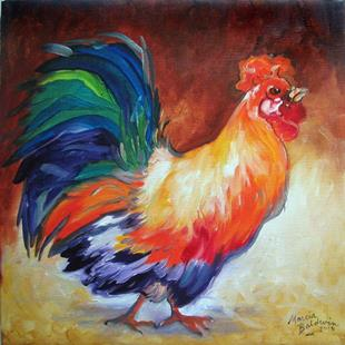Art: MIGHTY BIG ROOSTER by Artist Marcia Baldwin
