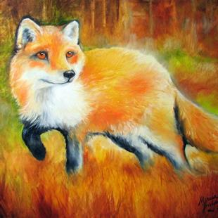 Art: LITTLE RED FOX ~ COMMISSIONED by Artist Marcia Baldwin