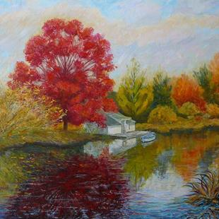 Art: Autumn Reflections by Artist Louise Hendry Womack