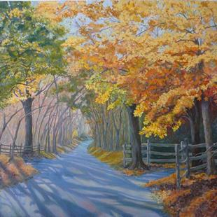 Art: Autumn Shadows by Artist Louise Hendry Womack