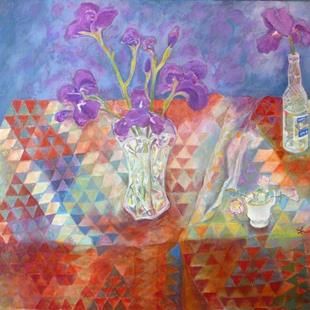 Art: Anne's Irises by Artist Louise Hendry Womack