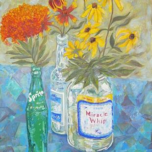 Art: Miracle Whip Wildflowers by Artist Louise Hendry Womack