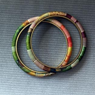 Art: small jeweltonw bangles by Artist Lauren Cole Abrams