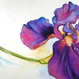 Art: Freshly Picked Purple Iris by Artist Marcia Baldwin