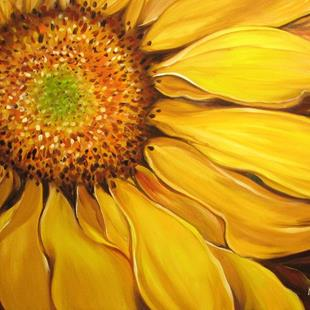 Art: SUMMER'S NIGHT SUNFLOWER by Artist Marcia Baldwin