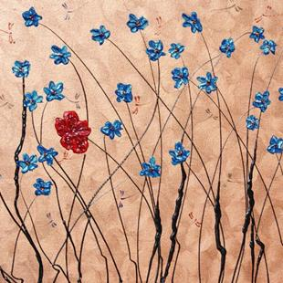 Art: Whitney's Forget Me Not's by Artist Rebecca M Ronesi-Gutierrez