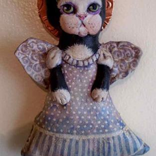 Art: Guardian Angel of Naughty Kitties by Artist Catherine Darling Hostetter