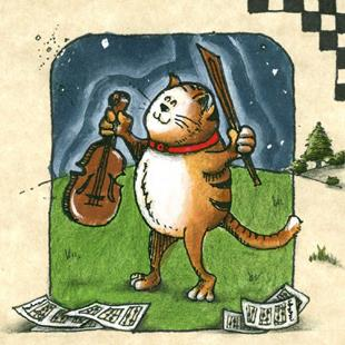 Art: Hey diddle diddle, the cat and the fiddle by Artist Ann Murray
