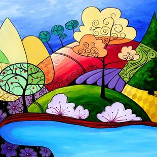 Art: Rolling Hills by Artist Sandra Willard