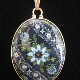 Art: Love In A Mist Lg 14k Gold Filled Pendant by Artist So Jeo LeBlond