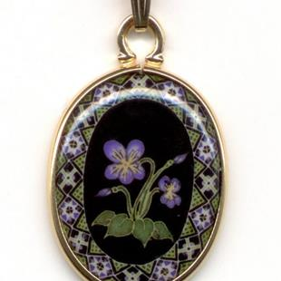 Art: Little Violets Small Pendant I by Artist So Jeo LeBlond
