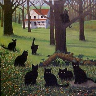 Art: CAT COUNTRY by Artist Rosemary Margaret Daunis