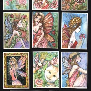 Art: ACEO FAIRY PRint set of 11 by Artist Molly Harrison