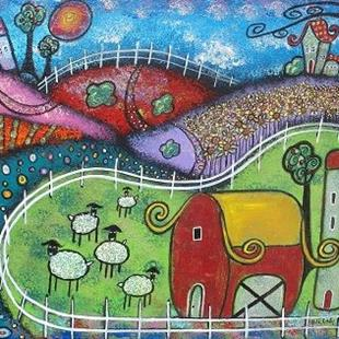 Art: The Enchanted Farm by Artist Juli Cady Ryan