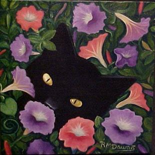 Art: PETUNIA CAT by Artist Rosemary Margaret Daunis