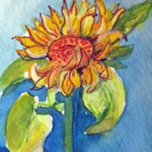 Art: Sunflower Aceo by Artist Delilah Smith