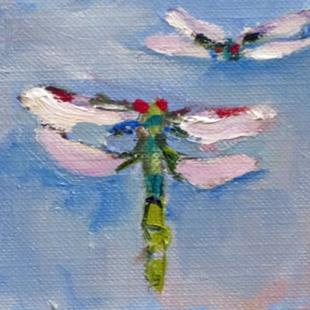 Art: Dragonfly Aceo by Artist Delilah Smith