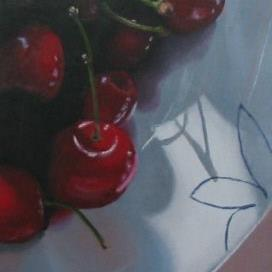 Art: Bowl of Cherries by Artist Christine E. S. Code ~CES~
