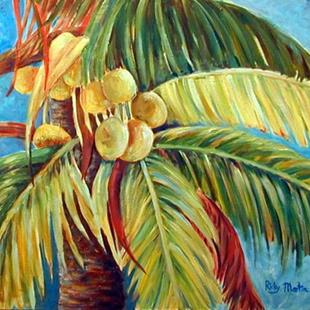 Art: Coconut Palm Tree by Artist Ulrike 'Ricky' Martin