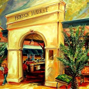 Art: French Market Sunshine - SOLD by Artist Diane Millsap