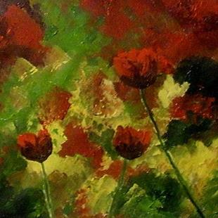 Art: Red poppies by Artist Mats Eriksson