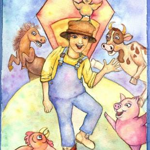 Art: Old McDonald dances on the Farm by Artist Nata Romeo ArtistaDonna