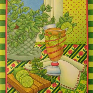 Art: Put the Lime in the Mint Tea by Artist Shelly Bedsaul