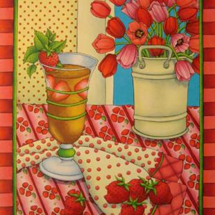 Art: Strawberry Spring by Artist Shelly Bedsaul