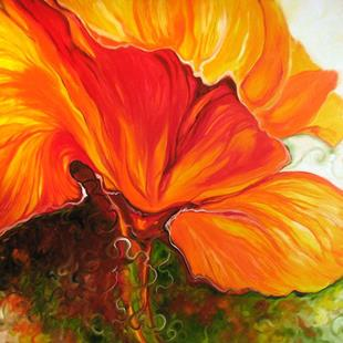 Art: GOLDEN POPPY ABSTRACT by Artist Marcia Baldwin