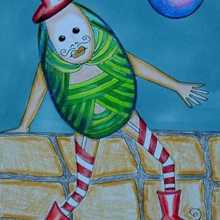 Art: HUMPTY WAS A FANCY PYSANKY by Artist Sherry Key