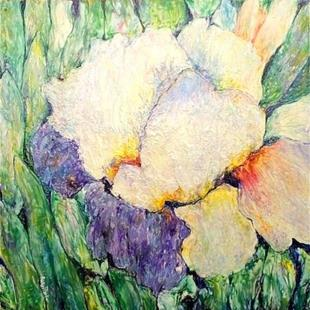 Art: Encaustic Iris ( sold ) by Artist Ulrike 'Ricky' Martin