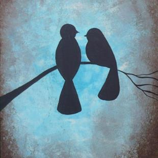Art: Two Blackbirds by Artist Charlene Murray Zatloukal